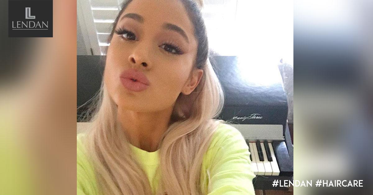 Ariana Grande rubio platino
